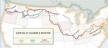 Lewis And Clark Route Map by Gallery For Gt Lewis And Clark National Historic Trail