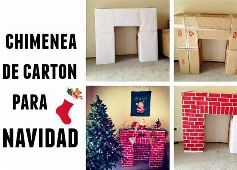 chimenea b and q chimenea de carton para navidad diy