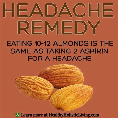 Detox Headache Cure by 10 12 Almonds Is The Same As Taking 2 Aspirin For A