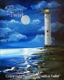 paint with a twist traverse city moonlit lighthouse sarasota fl painting class