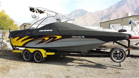 yellow wake boat 2007 mb sports tomcat f23 for sale in lindon utah