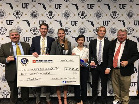 Top Sec Mba Programs by Harbert College Mba Students Take Third At Sec