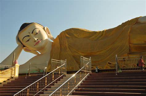 Gb Budha reclining budha naung daw gyi tha lyaung bago myanmar pecintawisata