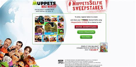 Sweepstakes Period - muppetsselfie sweepstakes blu ray combo pack of muppets most wanted disney store