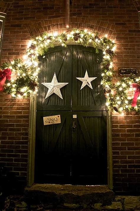 back to ideas for christmas door decorations