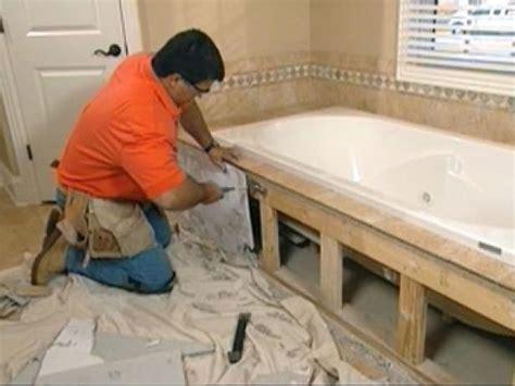 Claw Foot Tub Installation: Surround Demolition   how tos