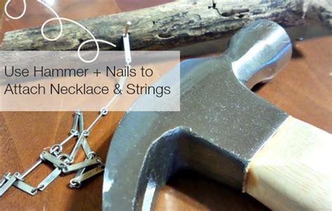 broken nail still attached diy wind chimes broken necklaces
