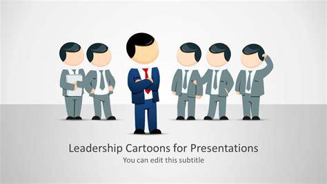 Leadership Cartoons For Powerpoint Presentations Slidemodel Free Leadership Powerpoint Templates