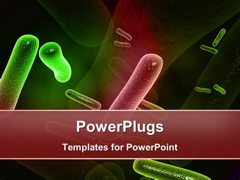 powerplugs templates for powerpoint download powerpoint template a number of bacteria with their