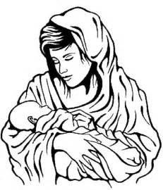 mary and baby jesus coloring pages kidsycoloring free online sketch template