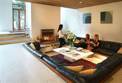pit room interior contemporary sunken living room conversation