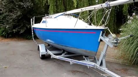 mini boat challenge gem 18ft micro mini toner sailing boat yacht sold uk youtube