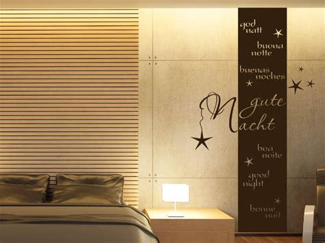 Was Sind Gute Farben Für Ein Schlafzimmer by Wandbanner Gute Nacht Wandtattoo Raumhoch Wandtattoos De