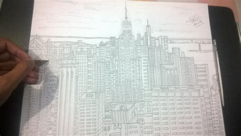 draw building drawing empire state building