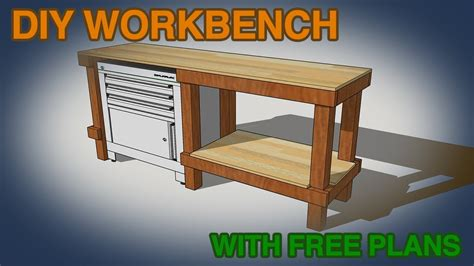 how to make a cheap bench diy cheap easy workbench build youtube