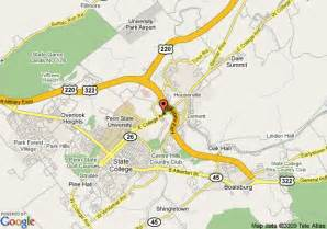 Map Of State College Pa by Map Of Hilton Garden Inn State College State College