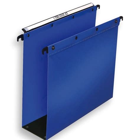Ac Elba 1 2 Pk elba suspension file polypropylene 80mm foolscap blue
