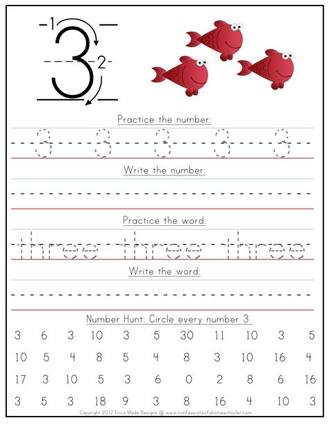 handwriting worksheets with numbers printable kindergarten number writing worksheets confessions of a