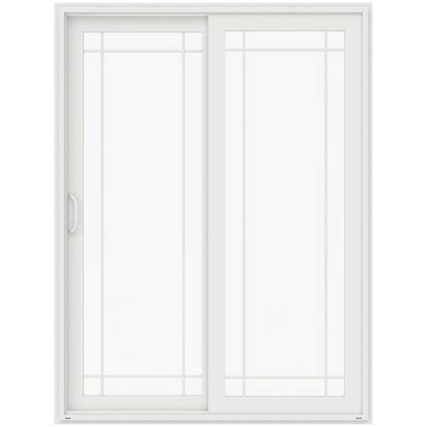 96 Patio Door Jeld Wen 72 In X 96 In V 4500 White Prehung Right Sliding 9 Lite Vinyl Patio Door