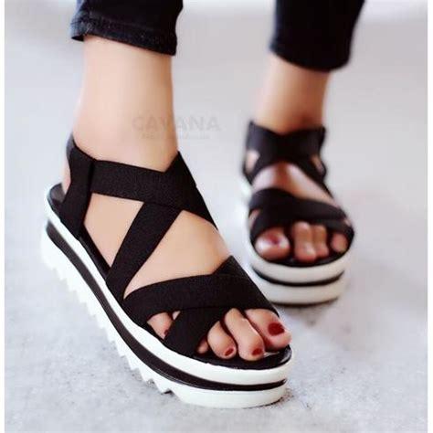 sepatu sandal wanita platform wedges elevenia