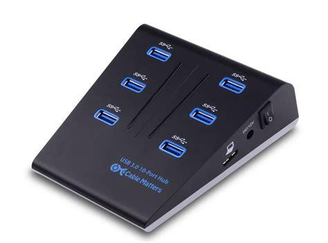 Usb Hub Powered This Usb 3 0 Hub Gives You Plenty Of Powered Ports Macgasm