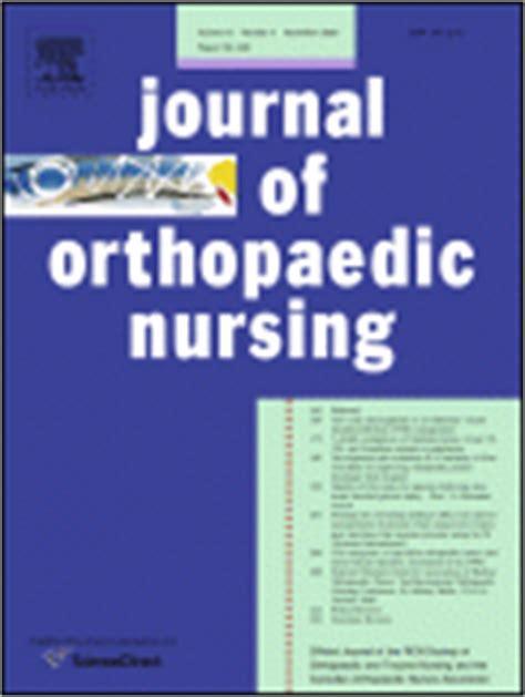 collegian the australian journal of nursing practice journal of orthopaedic nursing 1361 3111 elsevier