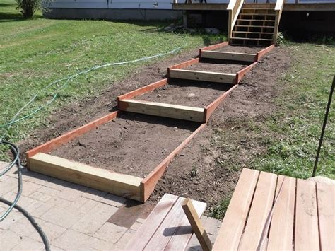 diy paver patio slope building steps on a slope landscapes stairs and culture