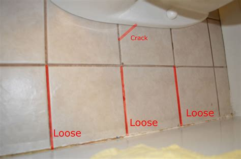 bathroom tile crack repair crack how should i repair these loose tiles in the