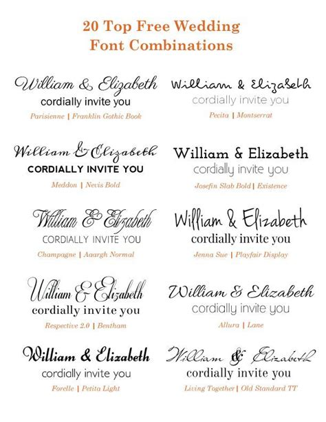 font for wedding invitations check out these free wedding font combinations if