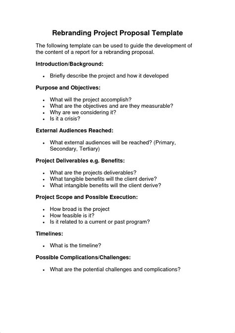 Simple Technical Project Template Simple Project Template Procedure Template Sle