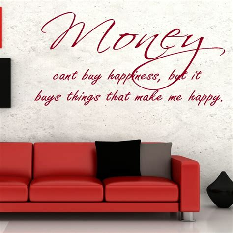 wall sticker sayings money quote