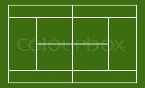 tennis court template template realistic tennis court with lines vector