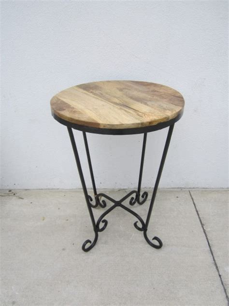 iron and wood side table iron and wood side table nadeau columbia