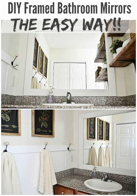 Framed Bathroom Mirrors Diy Diy Framed Bathroom Mirrors