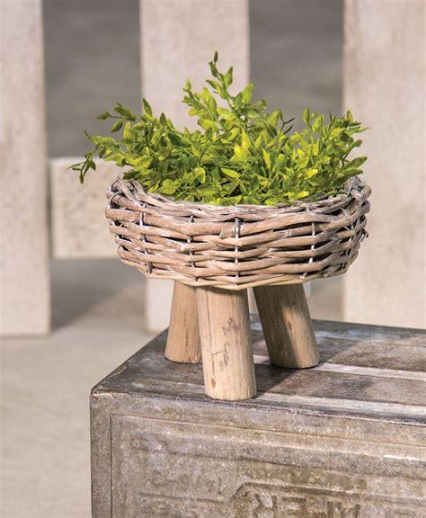 Basket Planter Craft House Designs Willow Basket Planter Medium