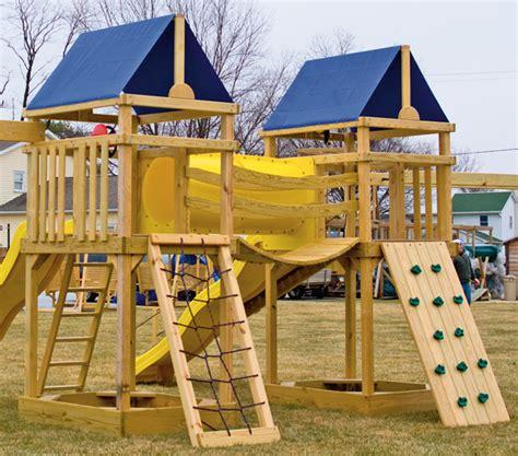 wooden swing set with bridge gera gardens 187 wood swing sets options walls