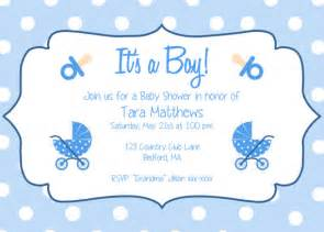 Baby Shower Templates For Boy by Boy Baby Shower Invitation Template It S A