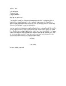How To End A Resignation Letter by Resignation Letter With End Date