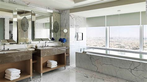 High End Bathroom Suites The Middle East S Most Opulent Hotel Rooms Cnn