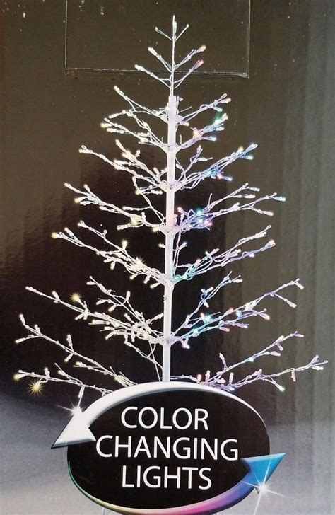 new 4 5ft 210l led branch twig stick christmas tree color