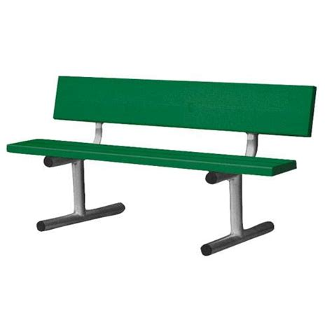 court bench 5 court side aluminum bench