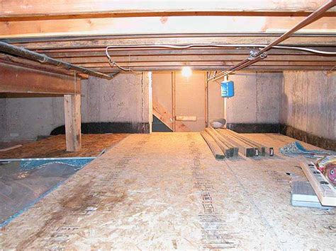 crawl space basement quot quot sequence of putting a floor in your basement crawl space