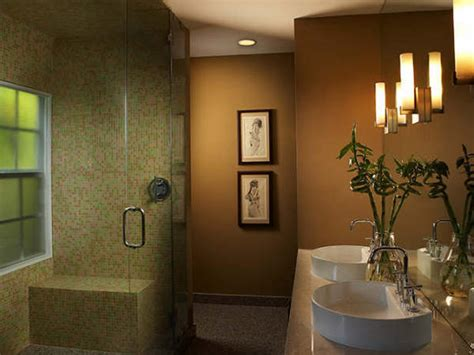Earth Tone Bathroom Designs by Brown Contemporary Dual Vanity Bathroom Hgtv