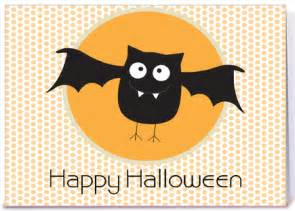 happy halloween bat greeting card by sweet tooth studio