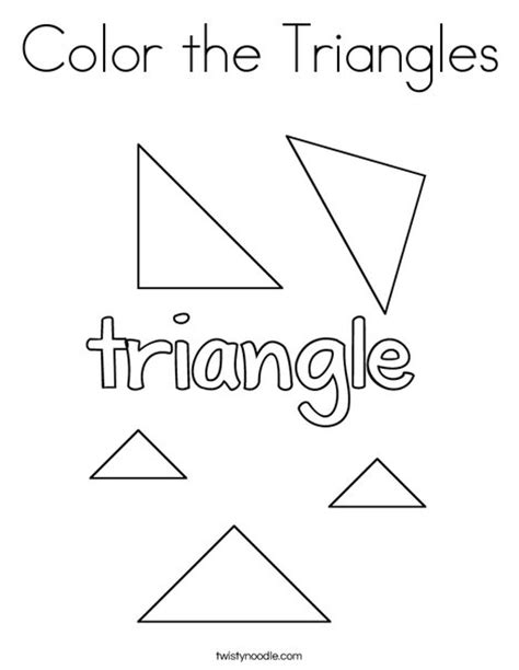 triangle coloring pages for toddlers color the triangles coloring page twisty noodle