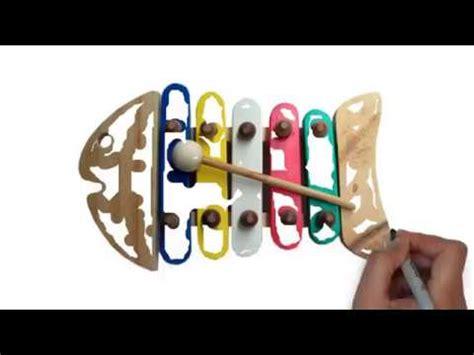 Mainan Edukasi Kayu Kolintang Mini Klasik cara memainkan mainan alat musik tradisional anak gamelan kayu lukis ukuran kecil