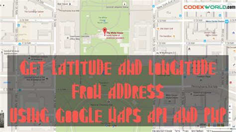 Search Address Maps Api Get Latitude And Longitude From Address Using Maps Api And Php Codexworld