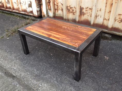 steel and wood table contemporary end tables