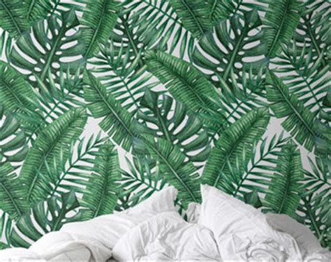 temporary wallpaper banana leaf etsy your place to buy and sell all things handmade