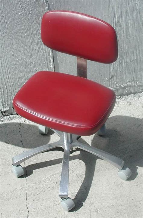 Maroon Coloured Stool by Royal Doctor Stool Pre Owned Dental Inc